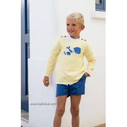 JERSEY KIDS CHOCOLATE BALLENAS AMARILLO